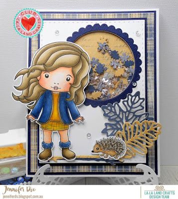 From our Design Team! Card by Jennifer for inspiration on La-La Land Crafts blog. Click on the photo for product list and coloring details