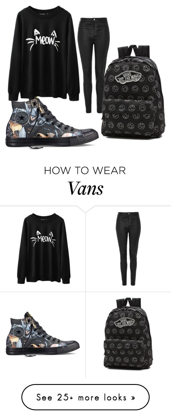 """""""Wans"""" by helenapictures on Polyvore featuring Converse, Vans and Topshop"""
