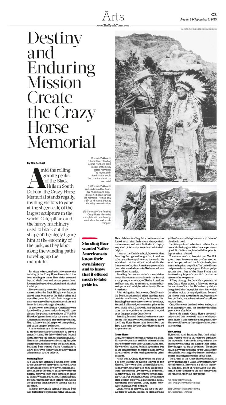 Destiny and Enduring Mission Create the Crazy Horse Memorial|Epoch Times #FineArts #newspaper #editorialdesign