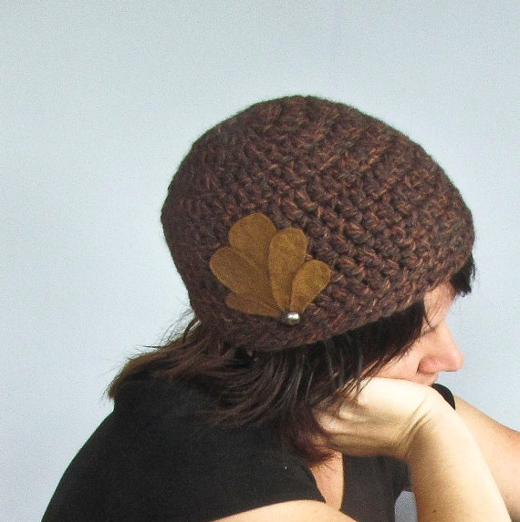 20s inspired brown crocheted hat by Faite on Etsy, $35.00