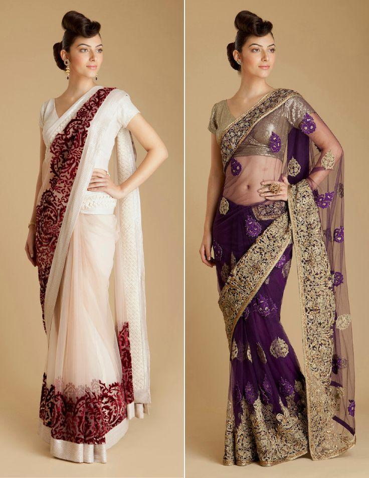 both of these saris by varun bahl are gorgeous