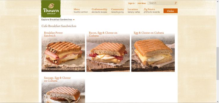 The menu design is very well categories and the photos of the breads make the design looks very delicious.