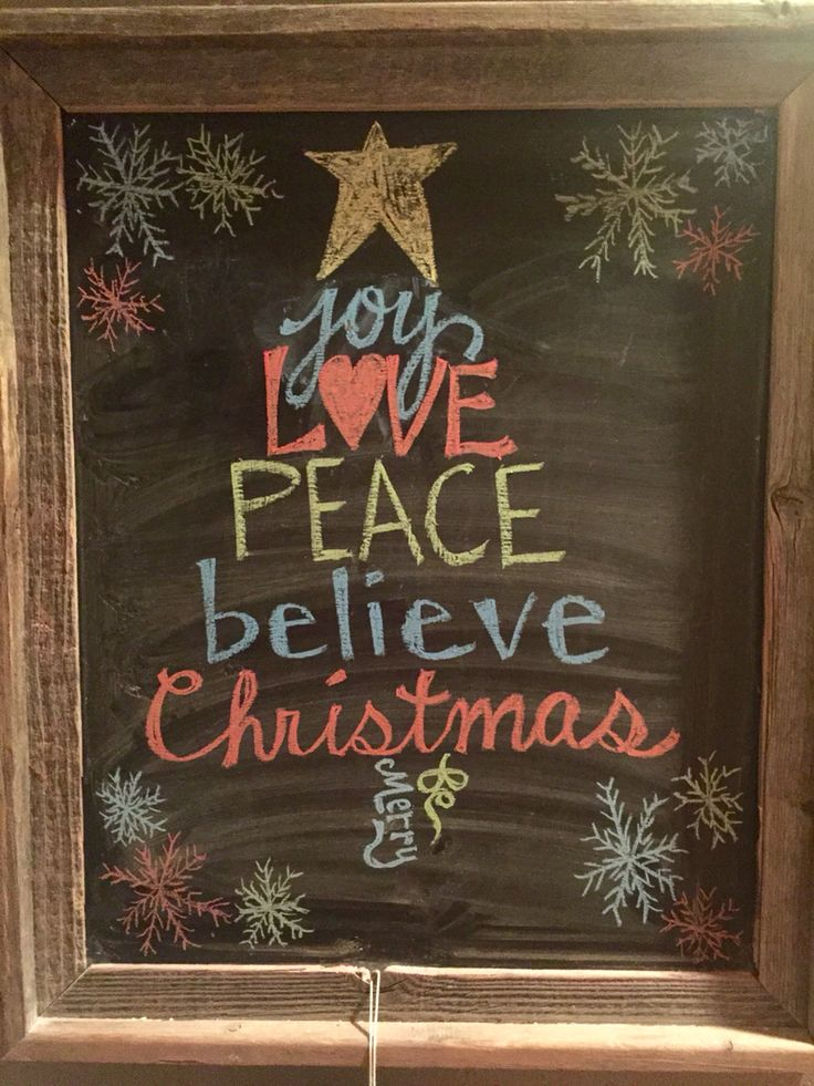 christmas chalk drawings