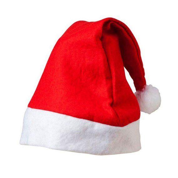 CLEARANCE Red & White Felt Xmas Hat. Christmas Santa Fancy ...