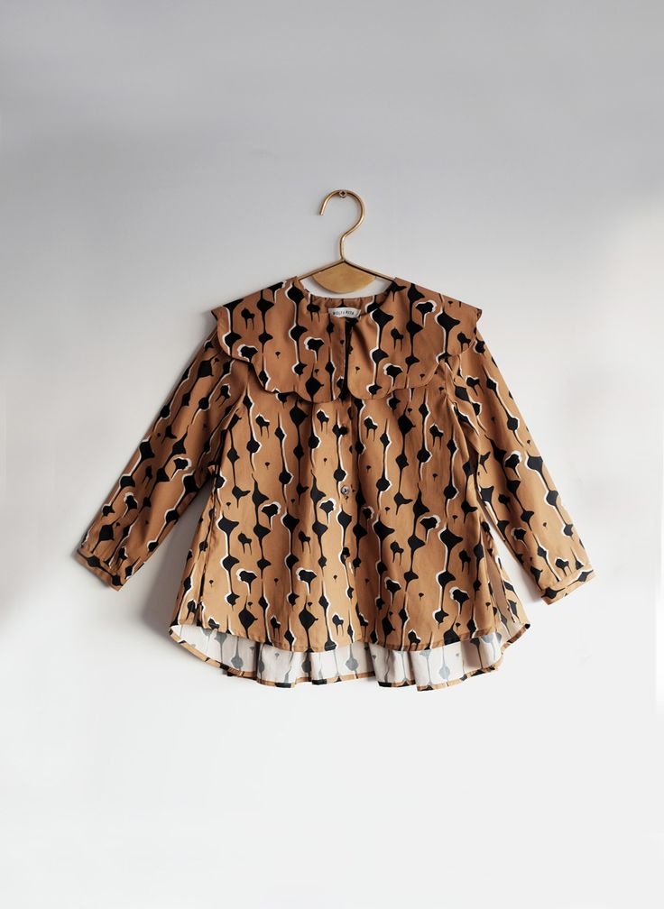 Wolf and Rita Blouse Eva in Drops print - Made in Portugal