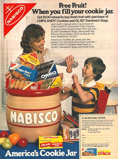 1978 Nabisco Cookies Magazine Ad Oreo Fig Newtons Nutter Butter | Flickr - Photo Sharing!
