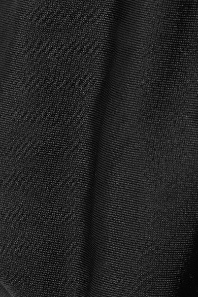 Vix - Solid Reversible Triangle Bikini Top - Black - x large