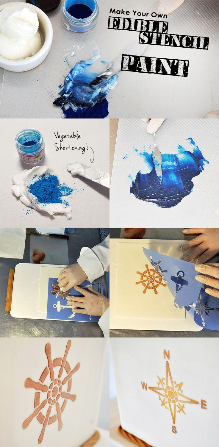 Make your own Edible Oil Paint