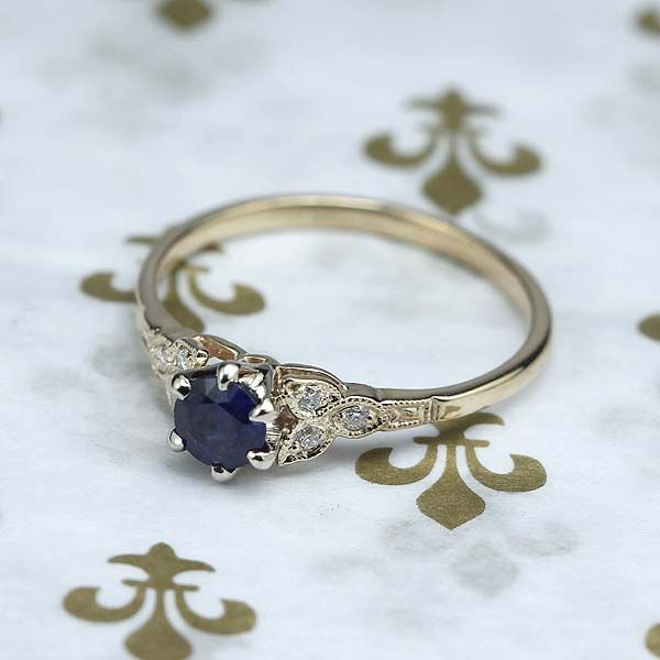Replica Art Deco Sapphire Engagement ring – 3188-03 – Robyn Hayden