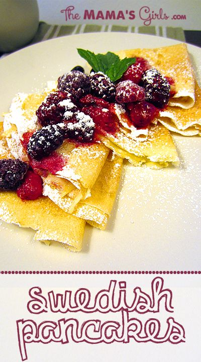 Easy Swedish Pancakes...so good!