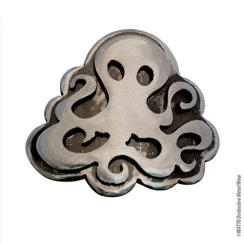 Steampunk Octopus Belt Buckle by Outlaw Kritters #petjewelry #octopus #outlawkritters www.outlawkritters.com