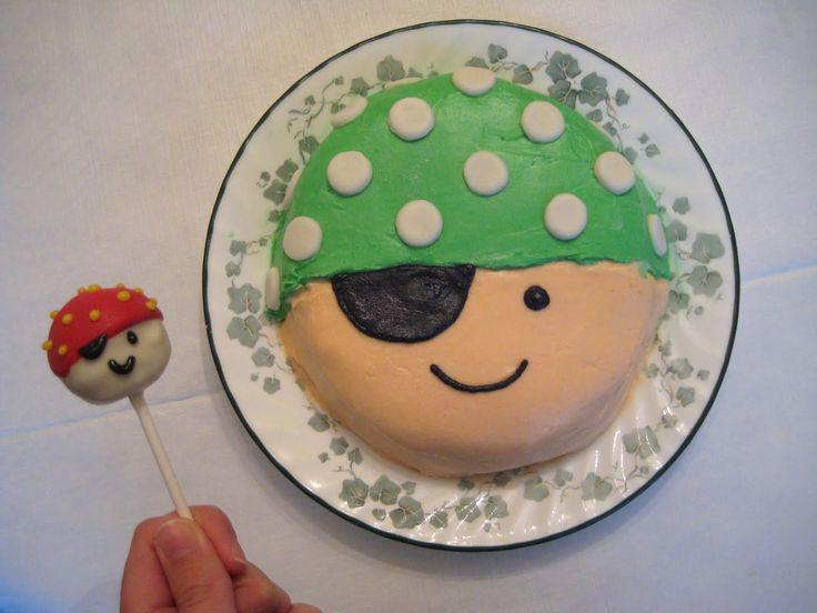 pirate cake and cake pops