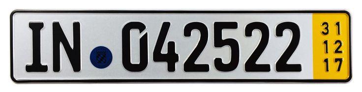 Ingolstadt Temporary German License Plate for Audi