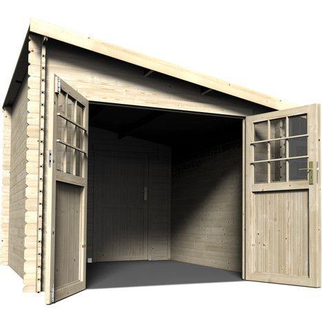 Petit abri de jardin bois adossable Ventspils / 7.29m²