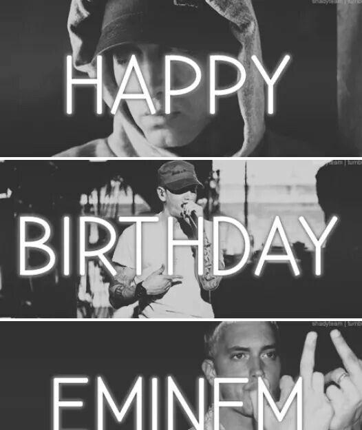 Eminem HAPPY BIRTHDAY EMINEM #ThankYouMarshallMathers