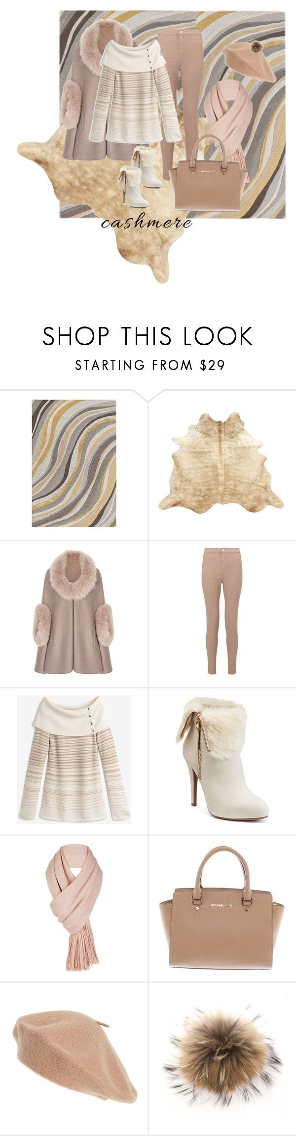 """""""Enter contest Save Draft Open New WomenMenHomeMy ItemsCollectionsContestCashmere Sw...× ×Shoes×Bags×beret×cashmere×cashmere×Rugs× Cozy Cashmere Sweaters"""" by lucky55ks ❤ liked on Polyvore featuring Artistic Weavers, Miss Selfridge, White House Black Market, Jennifer Lopez, Free People, Michael Kors, Halogen and cashmere"""