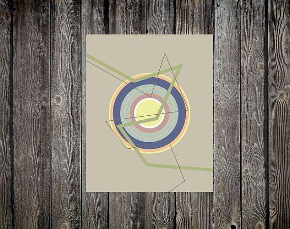 Abstract Target Circles Lines Digital Print by DropOfSunPrints
