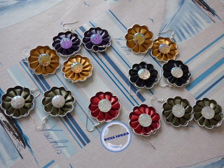 BO en capsules nespresso forme fleur et cabochons scintillants.