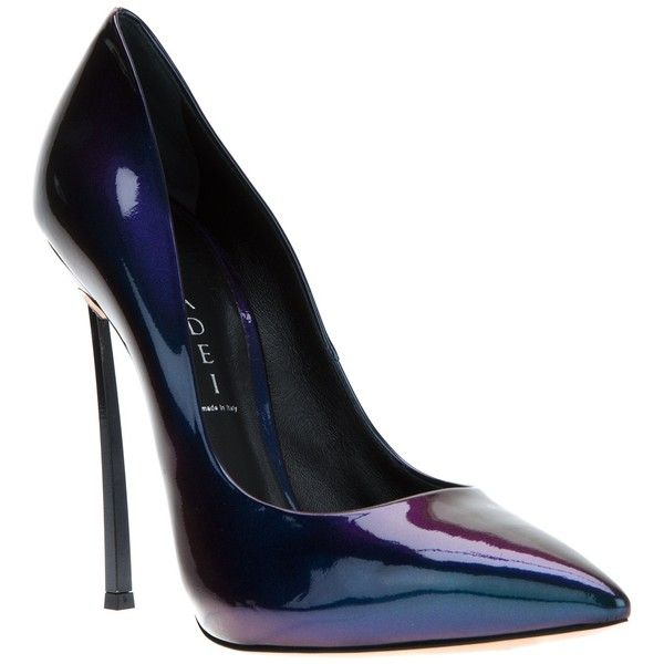 CASADEI patent pump ($724) ❤ liked on Polyvore featuring shoes, pumps, heels, обувь, high heels stilettos, patent leather pointy toe pumps, stiletto heel pumps, patent pointed toe pumps and pointed toe stiletto pumps