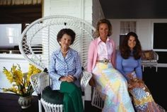 1979. Rose Kennedy, daughter-in-law and granddaughter, Ethel Kennedy and Kathleen Kennedy (Townsend) (Corbis)