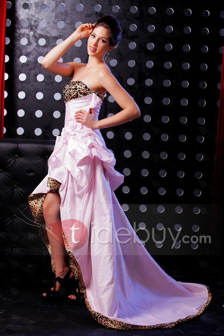 優雅な Aライン ストラップレス カテドラルトレイン イブニング/ページェントドレス
