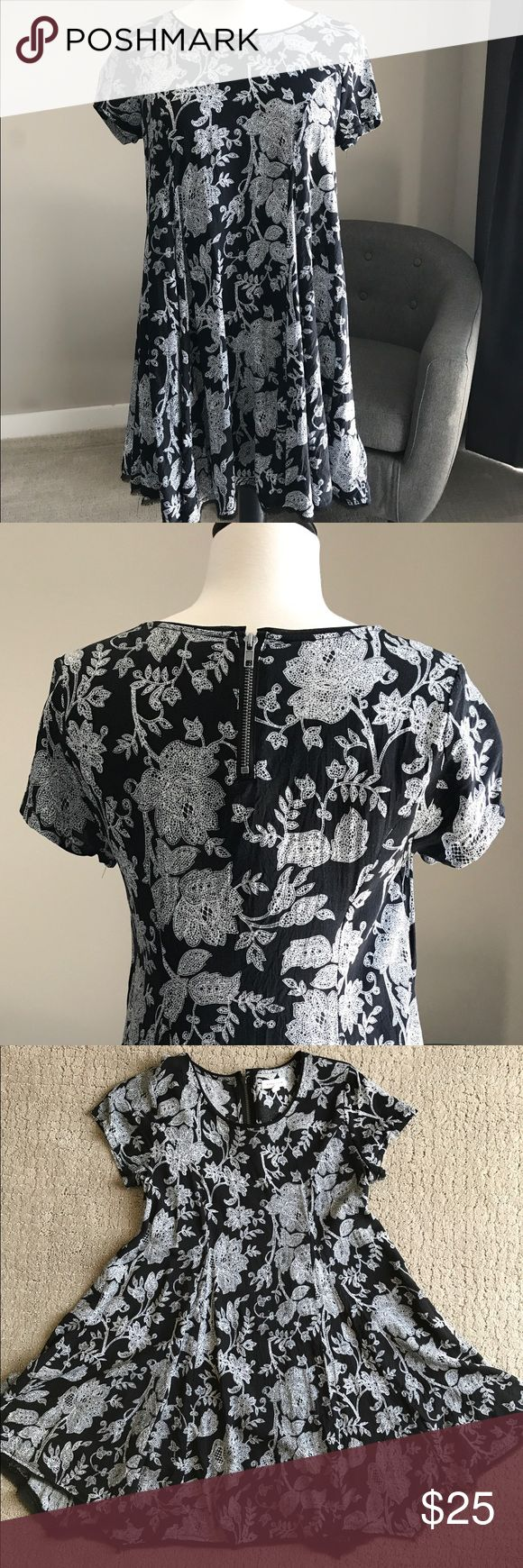 SILENCE & NOISE Flowy Dress from Urban Outfitters Purchased at Urban Outfitters, black & white floral design, GOOD used condition. Last 2 photos for modeling purposes only - pattern for sale can be seen in first 4 photos. Sorry, no trades. silence + noise Dresses
