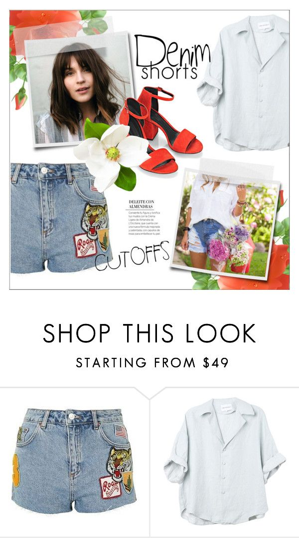 """the final cut: denim shorts"" by fernweeh on Polyvore featuring moda, Topshop i Alexander Wang"