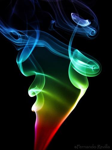 Smokey rainbow by , via Flickr
