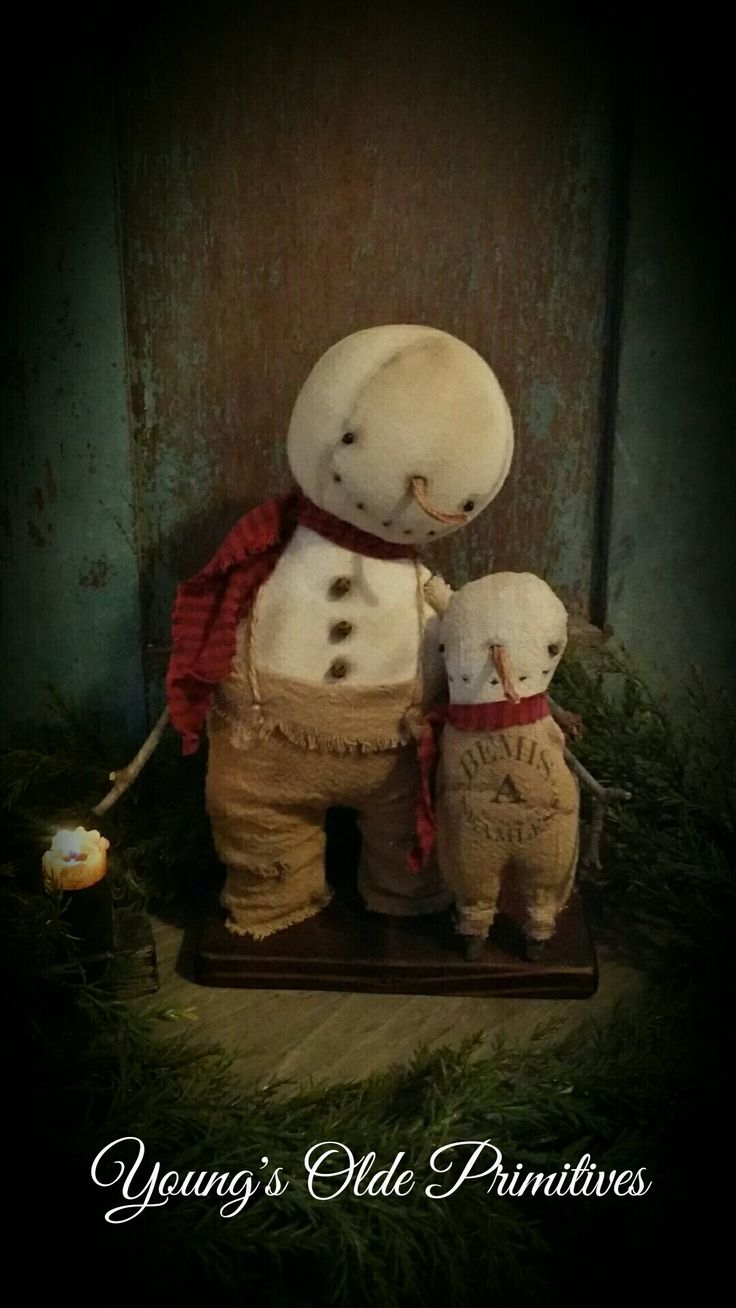 Primitive Snowmen ⛄️                                                                                                                                                                                 More