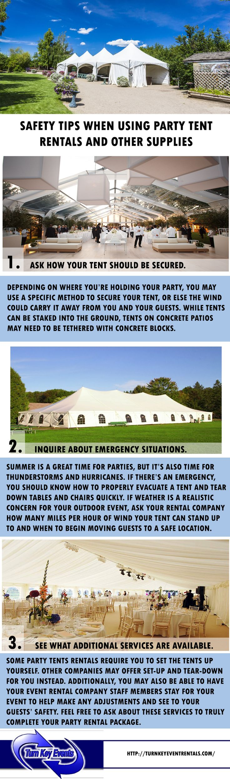 Tent rentals in Houston Texas for an outdoor event? You have to know the right questions to ask the party rental supplier. Visit www.turnkeyeventrentals.com today!