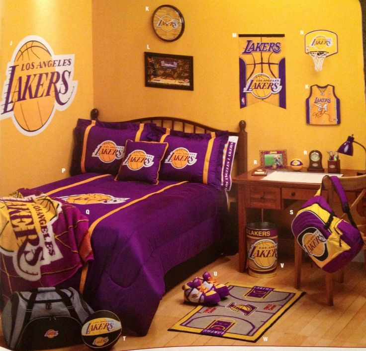 Another idea for a laker fans room my love sports - What size fan should i get for my bedroom ...