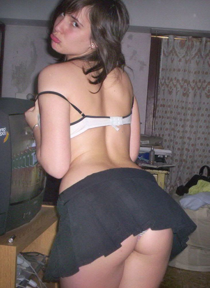 Upskirt faldita a cuadros micro short blanco - 1 7