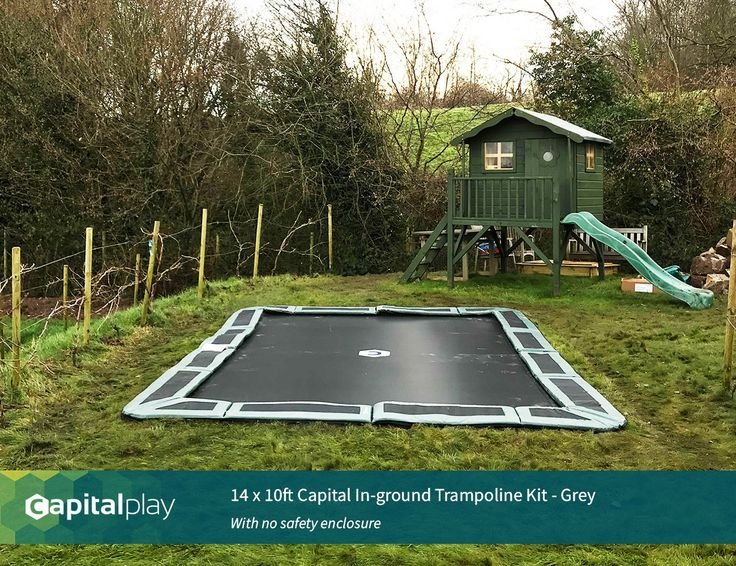 14 X 10ft Capital Bodeneinbautrampolin Kit Www Capitalplay Co Uk In Ground Tra Bodentrampolin In Ground Trampoline In Ground Trampoline Kit Trampoline