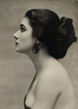 "Nita Naldi, an American silent film actress. She was usually cast in the role of the ""femme fatale""/""vamp"", a persona first popularized by actress Theda Bara."
