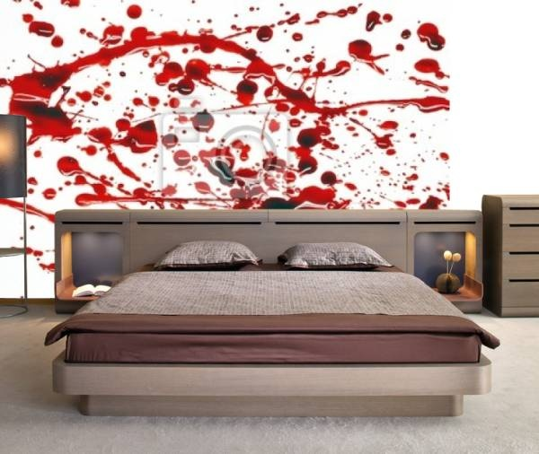 157 best images about blood on pinterest blood type diet for Bloody wall mural
