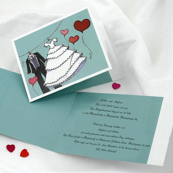 Morgen Ist Der Große Tag Brautmode Anzug Rot Luftballons Einladungen. Lustige  EinladungenEinladungen ...