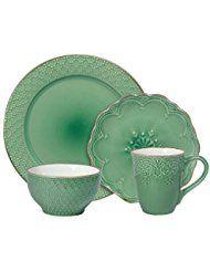 Pfaltzgraff French Lace Green Dinnerware Set, 32-piece