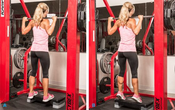 Smith machine and calves