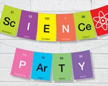 Bunting INSTANT DOWNLOAD DIY Printable for 'Science' Party Banner Pennant Garland Bunting
