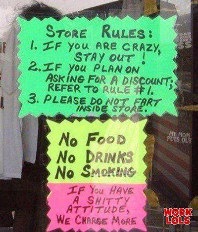 WTF best funny shop sign