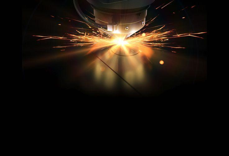 Vi kan lave den skarpe kant på vinkel, fordi den bliver laserskåret.