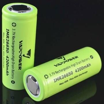 VAPPOWER IMR26650 4200mah 3.7v 40A Rechargeable Lithium-ion Battery
