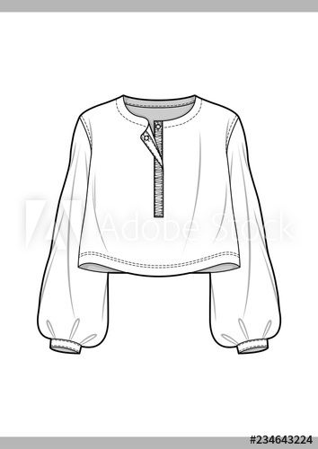 BLOUSE Fashion technical drawings vector template