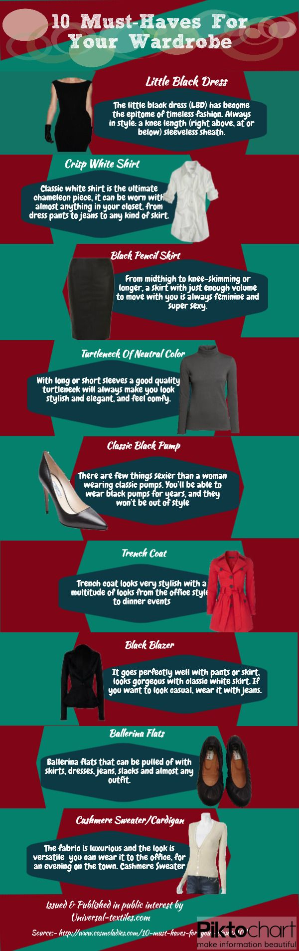 10 Must Haves For Your Wardrobe #Infographics — Lightscap3s.com
