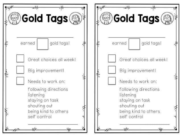 Positive Behavior Management {Gold Tags} | A Teeny Tiny Teacher | Bloglovin'