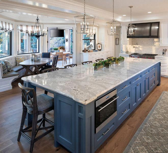 Blue Quartz Kitchen Countertops: Kitchen Island Blue Kitchen Island With Cambria Quartz