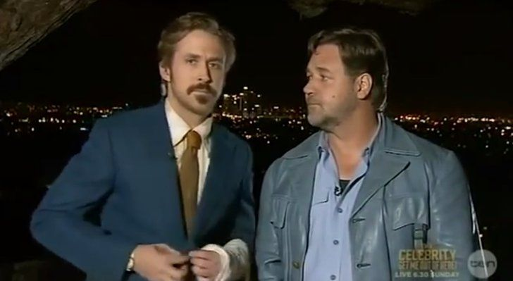 Pin for Later: Russell Crowe Can't Handle Ryan Gosling's Australian Accent