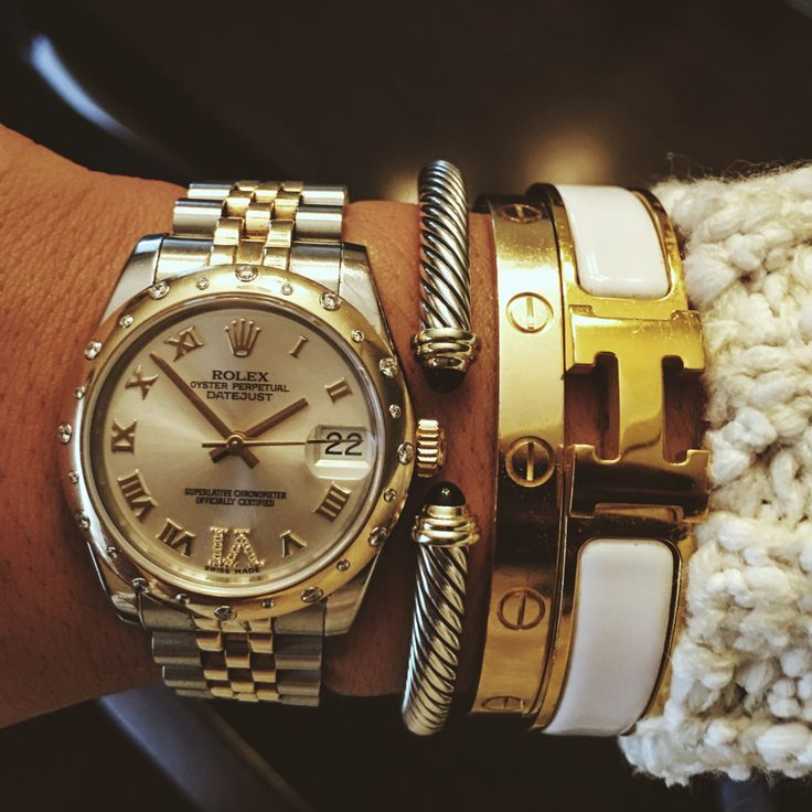 Rolex, David Yurman, Cartier, Hermes