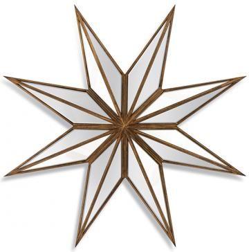Moravia Wall Mirror - Starburst Mirror - Decorative Mirror - Mantel Mirror - Star Mirror - Entryway Mirror | HomeDecorators.com