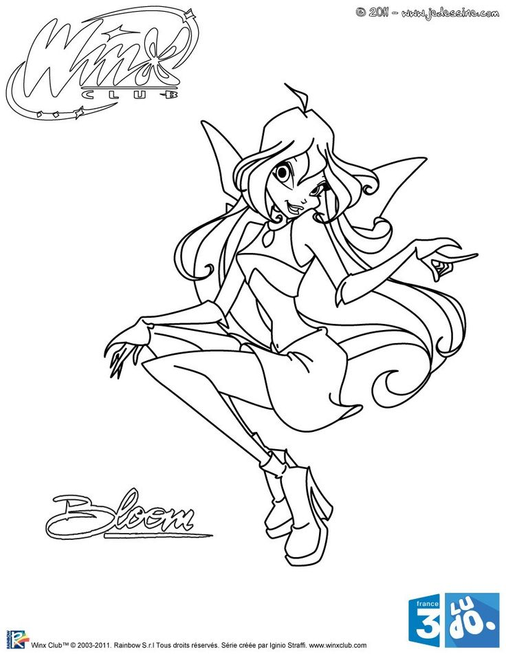 coloriage winx club coloriage bloom